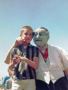 Al Lewis as Grandpa Munster behind the scenes at Marineland Carnival 1965